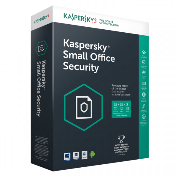 Kaspersky Small Office Security - 15pc - 15m - 2s - 1 leto